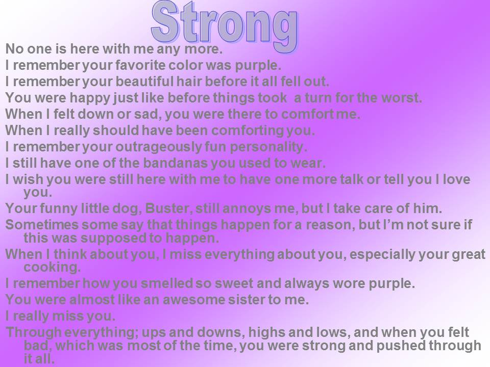 "Image of 15-Sentence Portrait Poem ""Strong"""