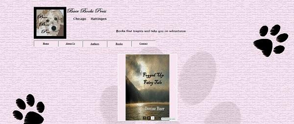 Screenshot of Baer Books Press