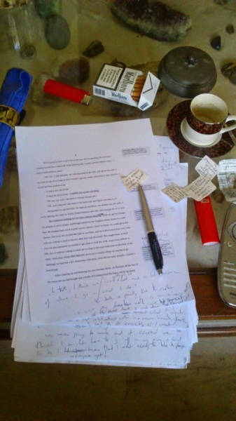 Picture of a writer's desk.
