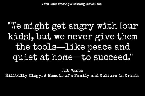 Quote image from Hillbilly Elegy