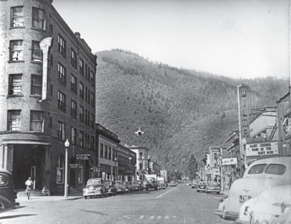 Picture of 1950s Wallace, Idaho