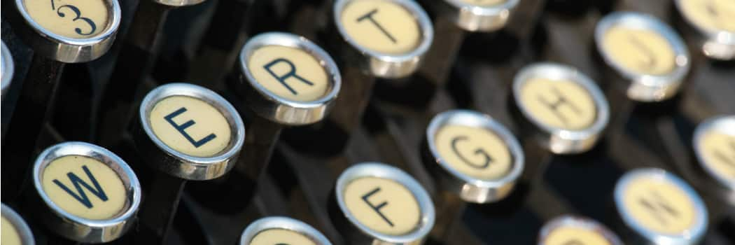 picture of vintage typewriter keyboard from istock